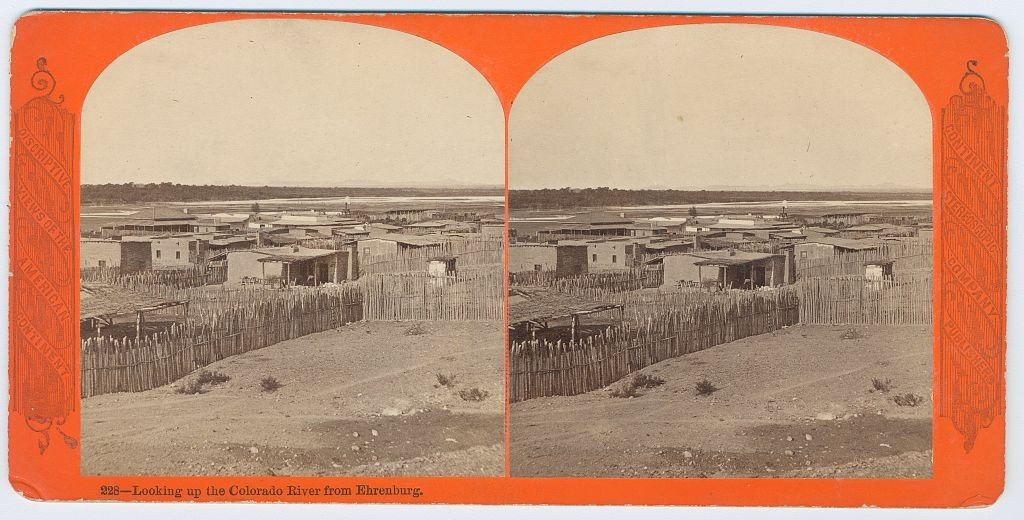 Looking up the Colorado River from Ehrenburg Creator(s): Conklin, E. (Enoch), photographer Date Created/Published: [S.l.] : Continent Stereoscopic Company, [ca. 1877]