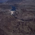 Aerial view of Hoover Dam, near Boulder City, Nevada. By Carol Highsmith