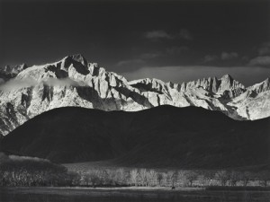 Winter Sunrise, Sierra Nevada, by Ansel Adams