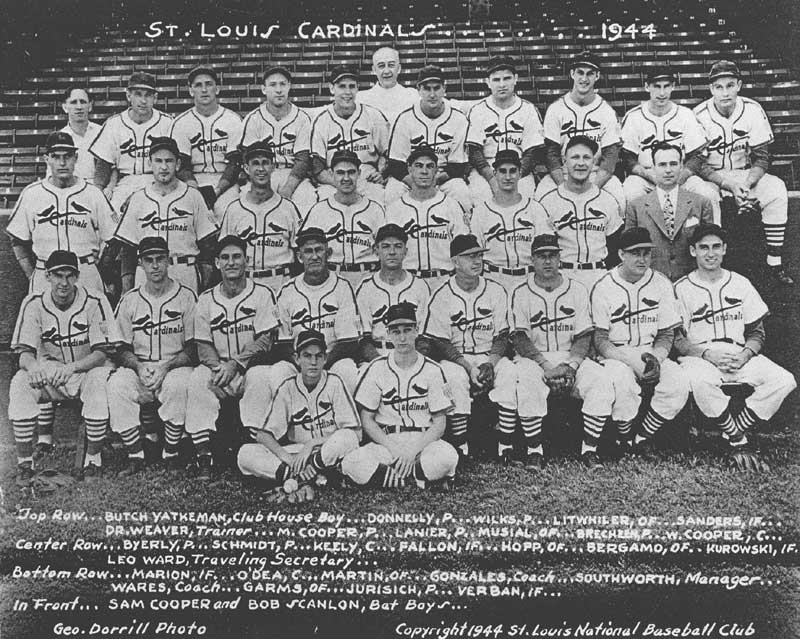 World Champion 1944 Cardinals