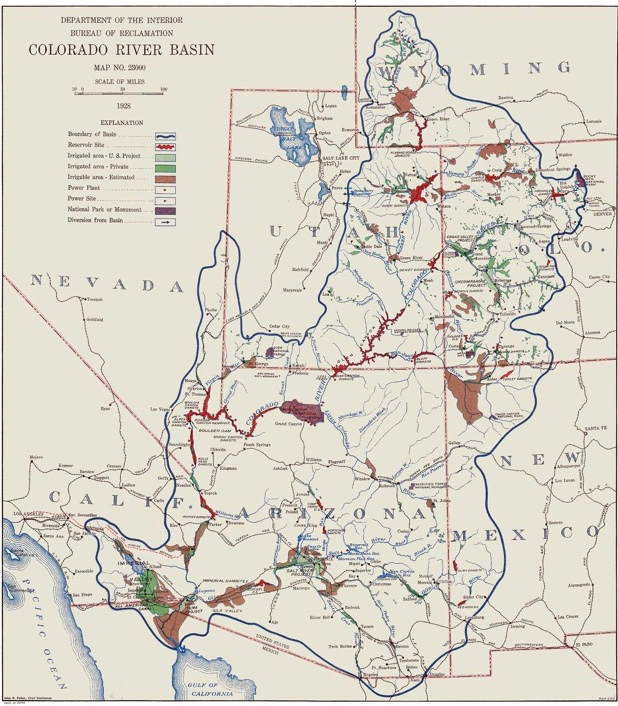 Why, in 1928, the Bureau of Reclamation treated Mexico as