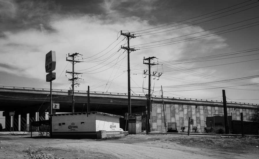 beer and electricity, Colonia Miguel Alemán, Baja, March 23, 2014, by John Fleck