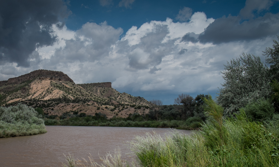 Rio Grande at Buckman, near Santa Fe, New Mexico, July 2014