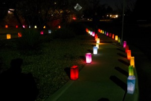 """luminarias, Christmas 2015 - """"hold others in the light"""""""