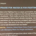 "Sandra Postel on ""Water is For Fighting Over"""