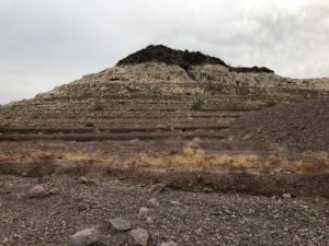 old shorelines long since left dry by Lake Mead's decline