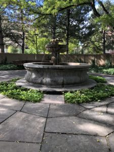 fountain at the University of New Mexico