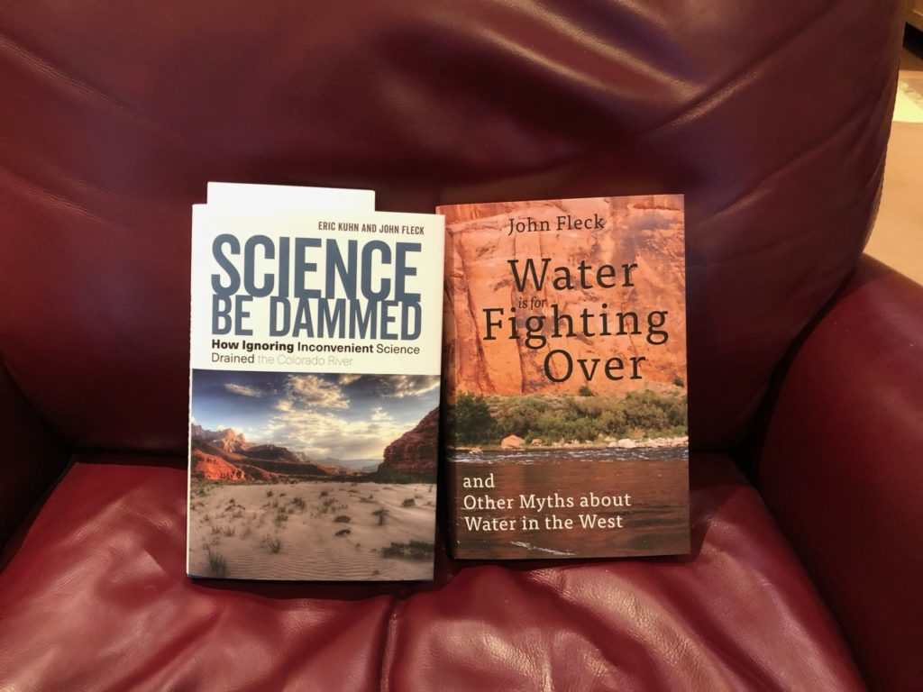 The new book Science Be Dammed, with my old book Water is For Fighting Over