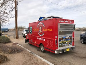 a red taco truck