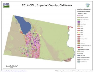 Imperial County 2014 land cover, via Cropscape