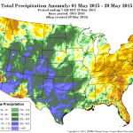 Precipitation departure from average. Source: PRISM