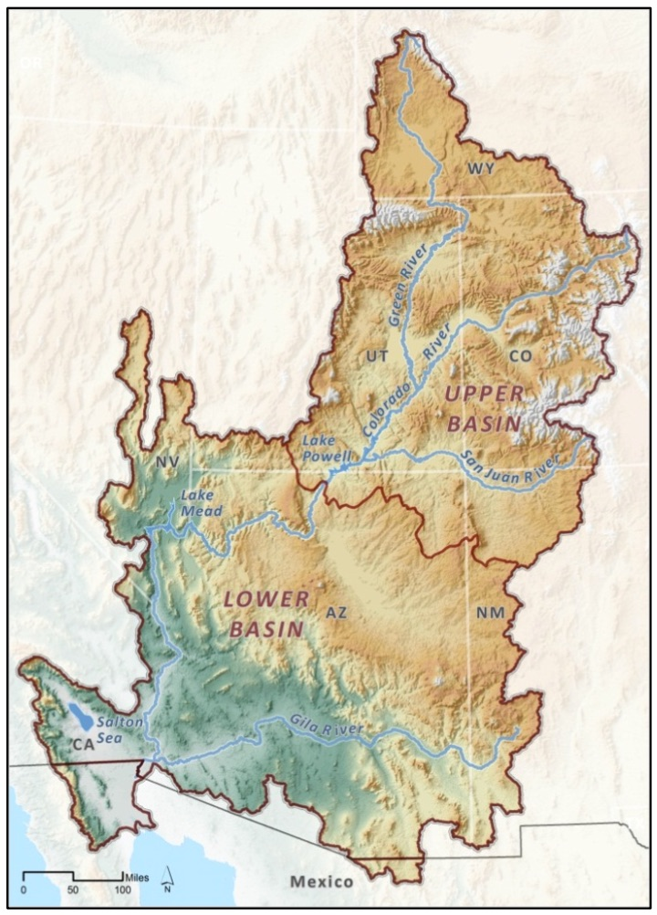 How To Solve The Colorado Rivers Problems Or Not Jfleck At - Colorado river world map