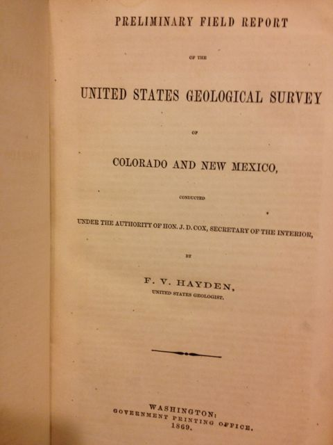 Hayden survey, 1869
