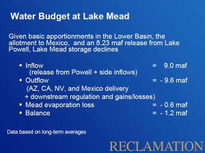Lower Colorado River Basin Water Budget