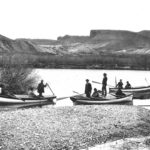 This photograph is of Powell's 2nd expedition in 1871-2, but he squished both expeditions together in his published journals, so this is somewhat fitting.