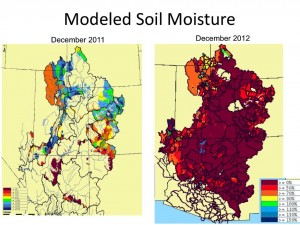 Colorado River Basin soil moisture
