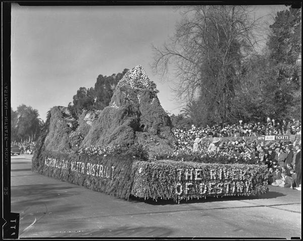Metropolitan Water District 1935 Rose Parade float, courtesy UCLA Library
